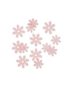 Filt blomster sart rosa, 72 stk.