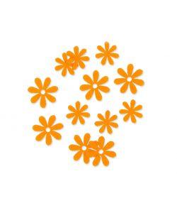 Filt blomster lys orange, 72 stk.