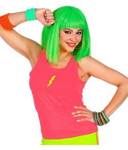 Pink neon top til 80er disco udklædningen