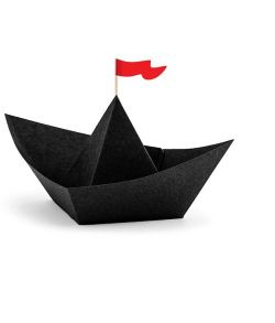 Saml selv piratskib dekorationer med flag til f.eks. piratfest