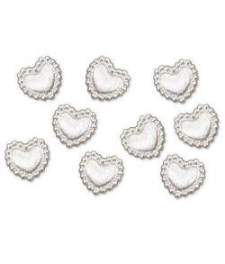 Perle hjerte konfetti i akryl, 25 stk