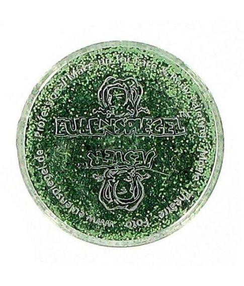 Grønt glimmer til ansigt og krop.
