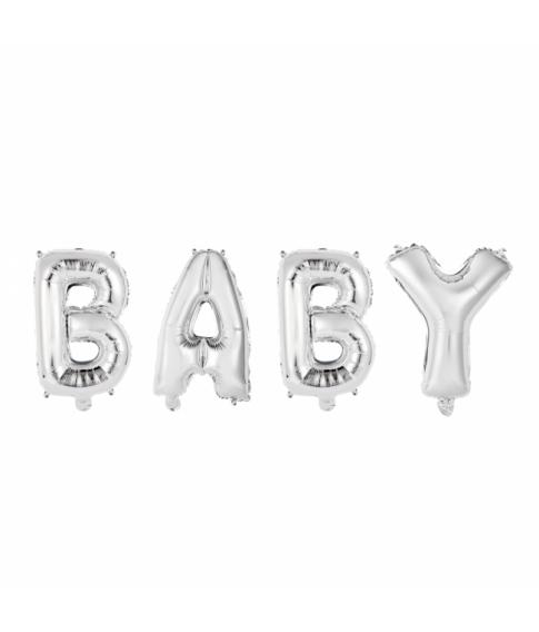 Folieballon BABY sølv 41 cm