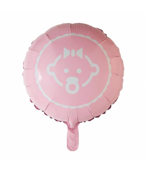Folieballon Baby Girl rosa 46 cm