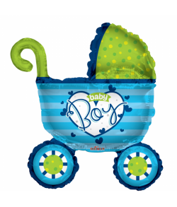 Folieballon Baby Boy barnevogn.
