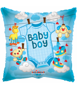 Folieballon Baby boy Tøj 46 cm