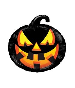 Græskar foliballon til halloween.