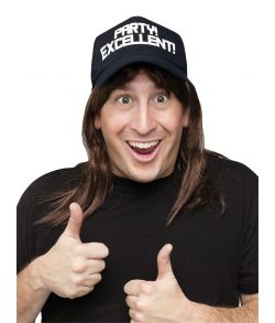 SNL Waynes World kasket med hår.
