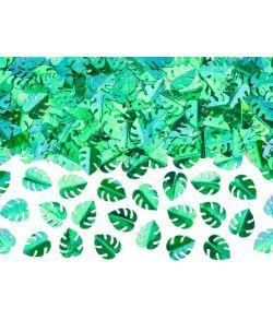 Blad konfetti i metallic grøn