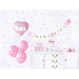 Sødt lyserødt babyshower sæt til pigen, med 49 dele