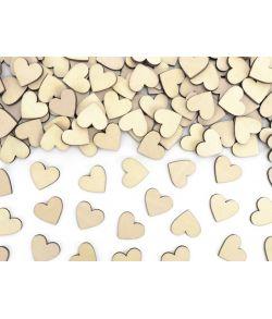 50 stk. små søde hjerter i træ