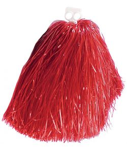 Rød pom pom til Cheerleader kostumet.