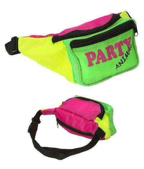 Farverig bæltetaske i neonfarver
