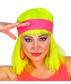 Neonpink hårbånd