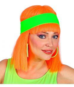 Neongrønt hårbånd