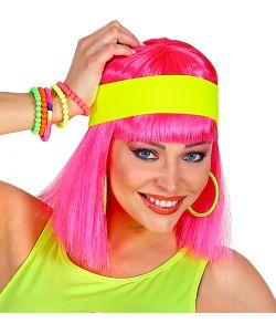 Neongult hårbånd
