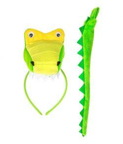 Krokodille sæt med hale og hårbøjle