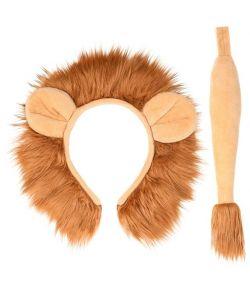Løve sæt med hale og hårbøjle