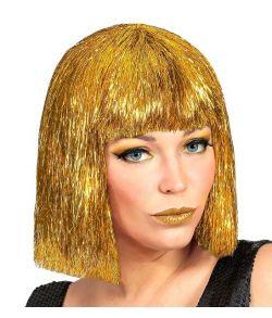 Glimmer paryk i guld