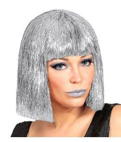 Glimmer paryk i sølv