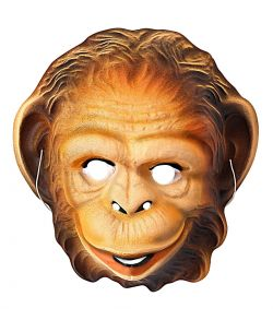 Chimpanse maske til børn.