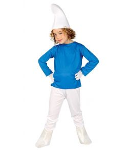 Billigt Smølfe kostume til drange til fastelavn.