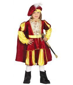 Middelalder Prins kostume til drenge.
