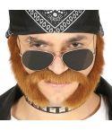 Brunt skæg med bakkenbarter