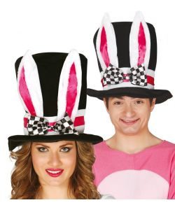 Høj hat med kaninører.