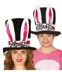 Høj hat med kaninører