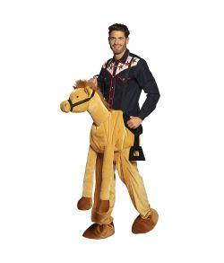 Hest piggy back kostume til voksen.