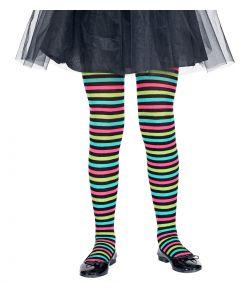 Multifarvet strømpebukser til børn.