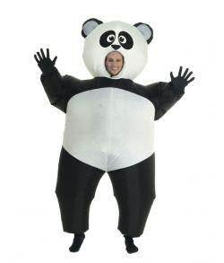 Oppusteligt Panda kostume.