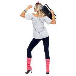 T-shirt med hårbånd og ben varmere