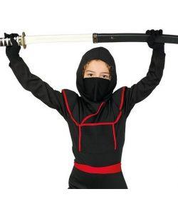 Sort ninja kostume til børn.