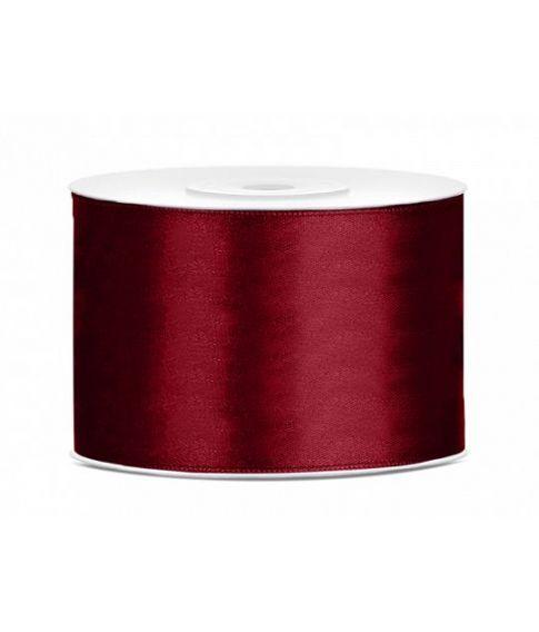 Dyb rød satinbånd 50mm x 25m