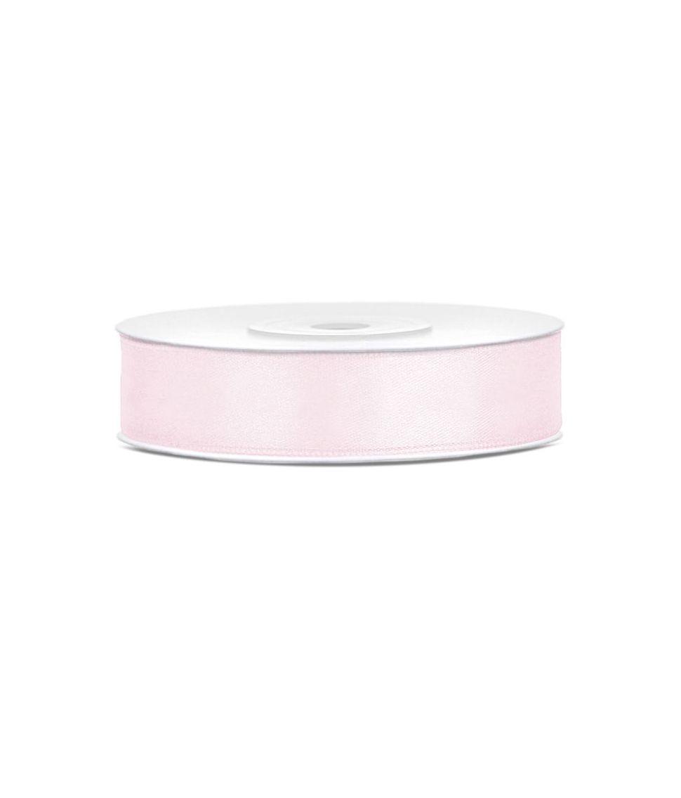 Lys rosa satinbånd 12mm x 25m