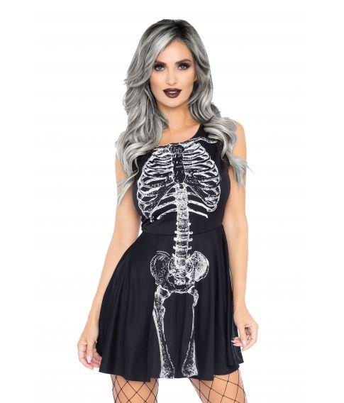 Sort skelet kjole.