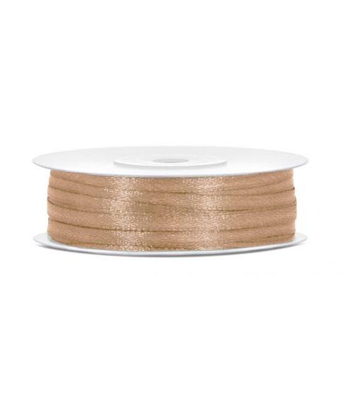 Lys guld satinbånd 3mm x 50m