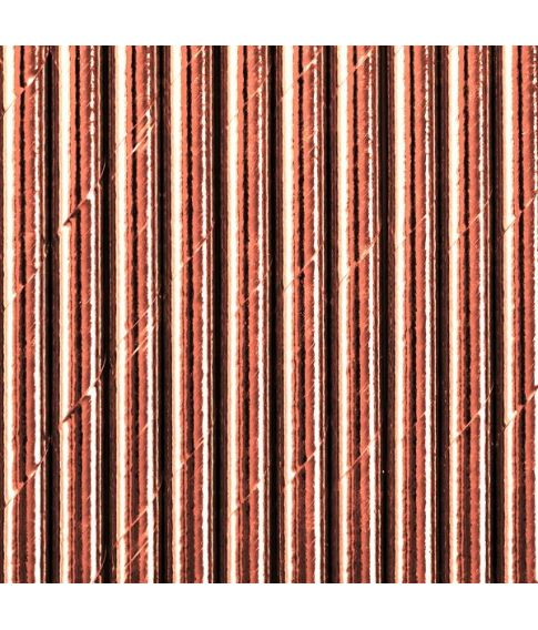 Sugerør metallic rose gold papir 250stk
