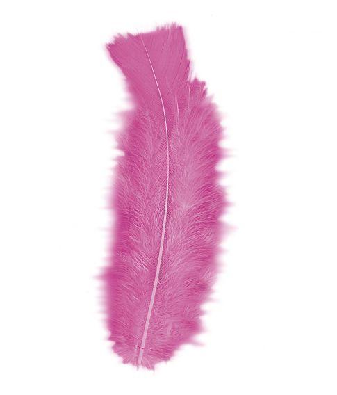 Pink fjer 50 stk.