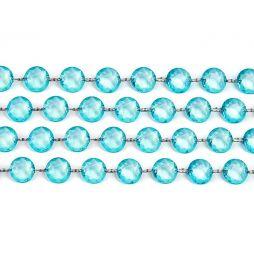 Diamant guirlande Turkis 1m