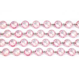 Diamant guirlande Lyserød 1m