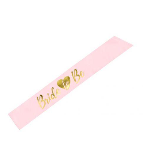 Bride to be skærf i lys pink med guld skrift