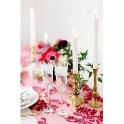 2 stk. flotte champagneglas med hjerter