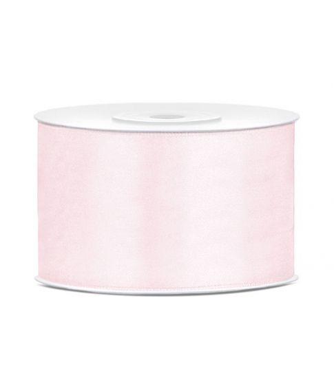 Lys rosa satinbånd 38 mm