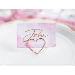 Bordkort holder Hjerte, Rose Gold