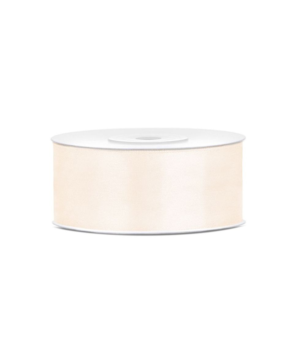 Lys creme satinbånd 25 mm