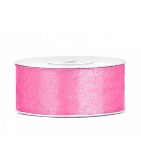 Pink satinbånd 25mm