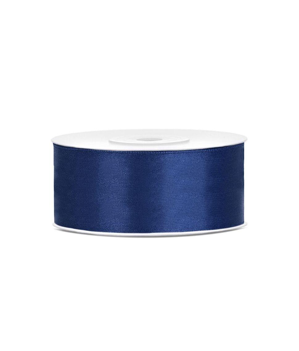 Navy blå satinbånd 25 mm